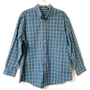 Orvis Men's Checked Long Sleeve Cotton Shirt